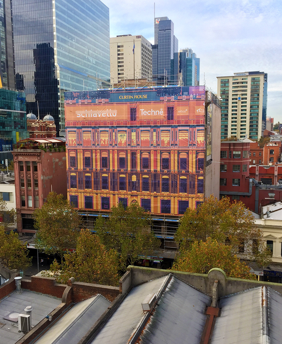 Places To Visit In Melbourne In August: Curtin House Hoarding - Open Season